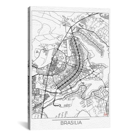 Brasilia Minimal Urban Blueprint Map // Hubert Roguski