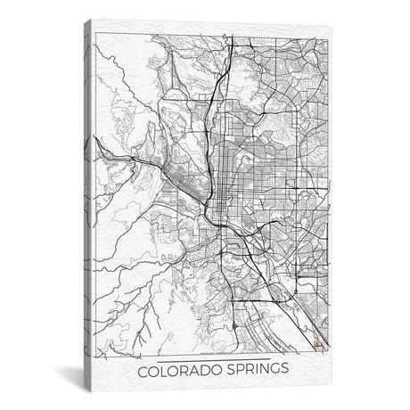 Colorado Springs Minimal Urban Blueprint Map // Hubert Roguski
