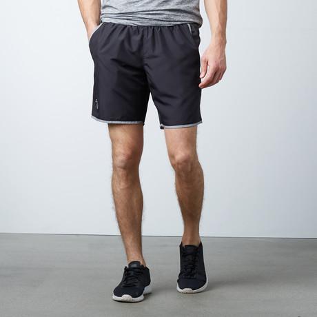 Dry Fit Sports Shorts + Zipper Back Pocket // Black
