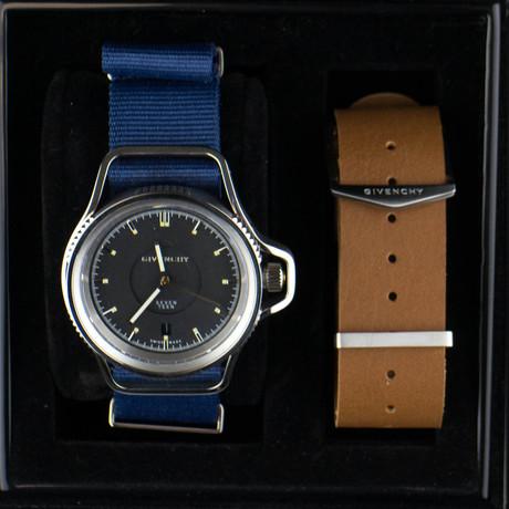 Seventeen Analog Wrist Watch + Exchangeable Strap // Blue