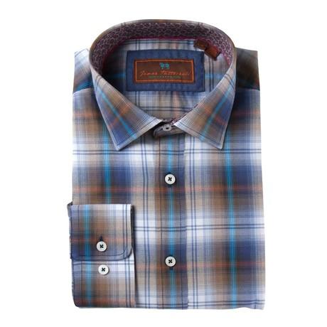 Woven Spread Collar Shirt // Blue + White Fade (XS)