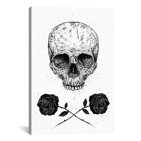 """Skull `n` Roses // Balazs Solti (26""""W x 18""""H x 0.75""""D)"""