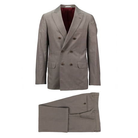 Legnano Cotton Double Breasted Suit // Gray (Euro: 44)