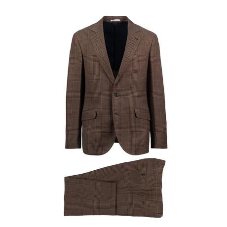 Anzio Wool Blend Suit // Brown (Euro: 44)