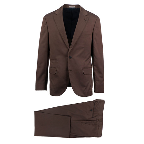 Tivoli Wool Blend Suit // Brown (Euro: 46)