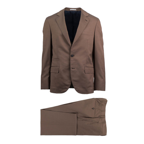 Crotone Wool Blend Suit // Brown (Euro: 46)