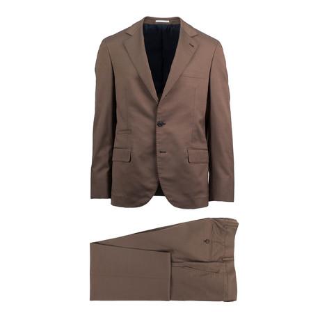 Crotone Wool Blend Suit // Brown (Euro: 44)