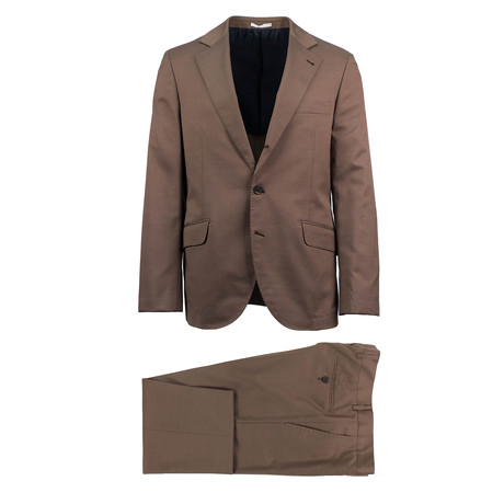 Fano Wool Blend Suit // Brown (Euro: 44)