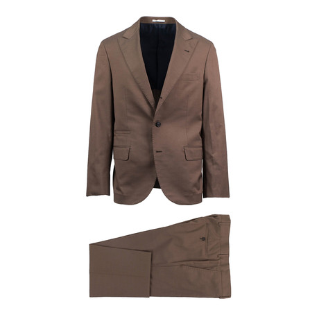 Matera Wool Blend Suit // Brown (Euro: 46)
