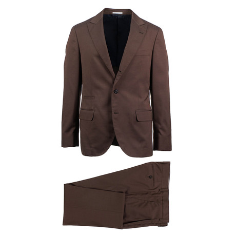 Trani Wool Blend Suit // Brown (Euro: 46)