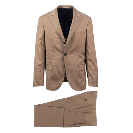 Savona Wool Blend Suit // Brown (Euro: 46)