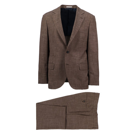 Vittoria Wool Blend Suit // Brown (Euro: 46)