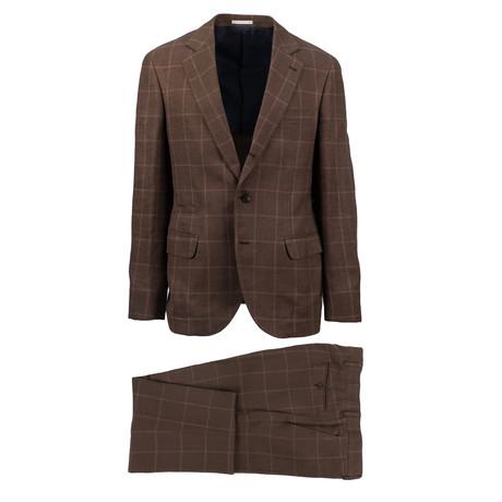 Acerra Wool Blend Suit // Brown (Euro: 44)