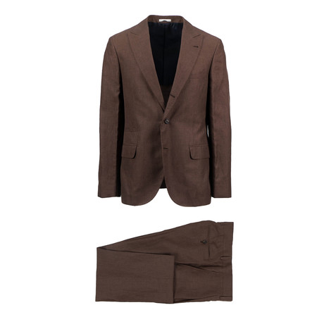 Cosenza Wool Blend Suit // Brown (Euro: 50)