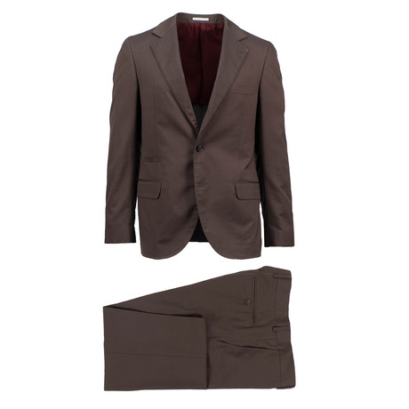 Potenza Wool Blend Suit // Brown (Euro: 46)