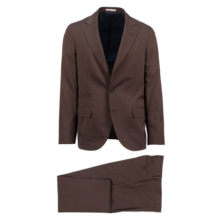 Viterbo Wool Blend Suit // Brown (Euro: 46)