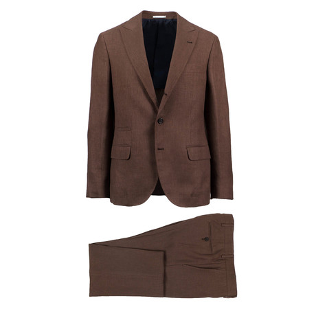 Pavia Wool Blend Suit // Brown (Euro: 46)