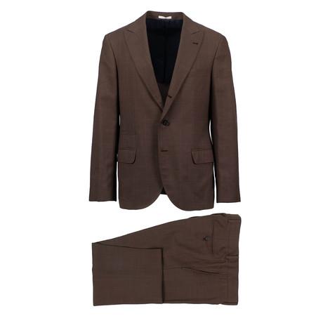 Asti Wool Blend Suit // Brown (Euro: 44)