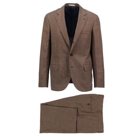 Varese Wool Blend Suit // Brown (Euro: 44)