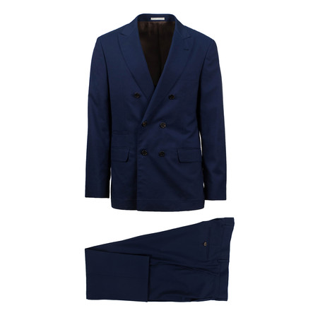 Rovigo Wool Blend Double Breasted Suit // Blue (Euro: 46)