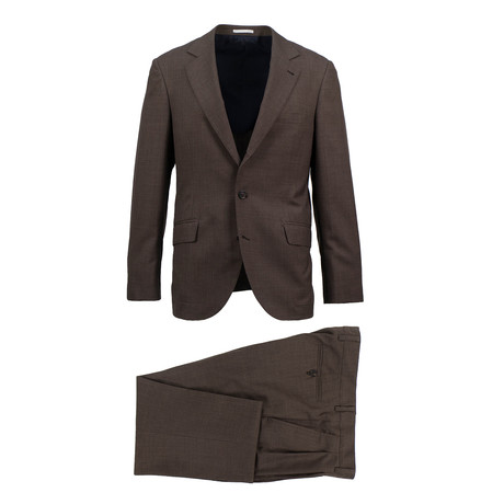 Gallarate Wool Suit // Brown (Euro: 46)