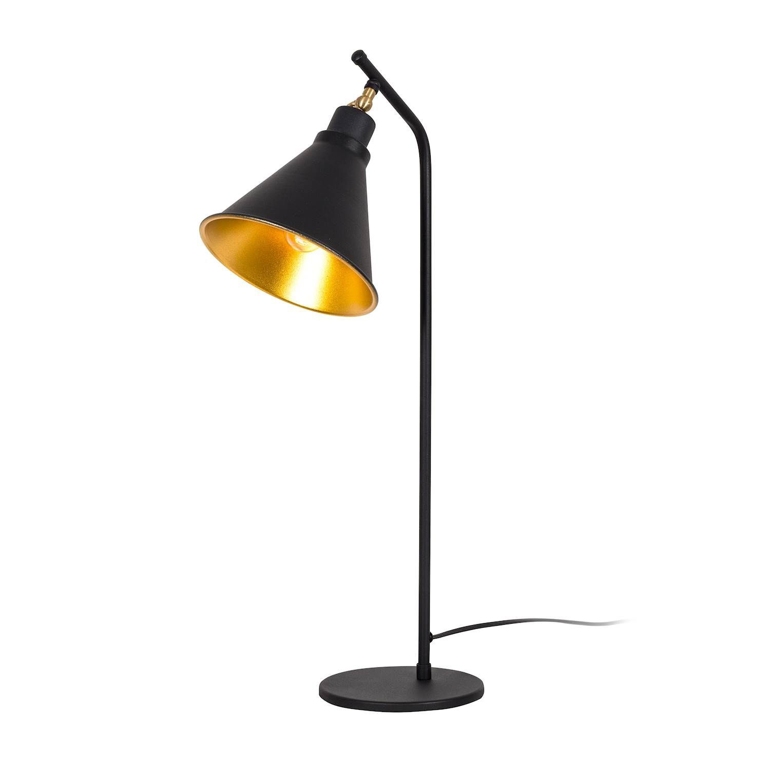 Industrial Modern Black Gold Table Lamp Moira Touch Of