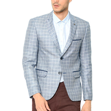 Milo Blazer // Checked Dark Blue (Small)