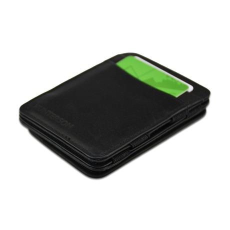 Hunterson Leather Magic Coin Wallet // Black