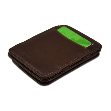 Hunterson Leather Magic Coin Wallet // Brown