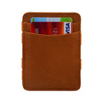 Hunterson Leather Magic Coin Wallet // Cognac