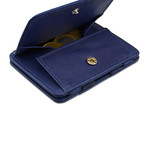 Hunterson Leather Magic Coin Wallet // Blue