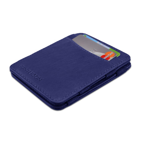 Hunterson Leather Magic Wallet // Blue