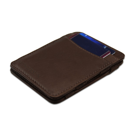 Hunterson Leather Magic Wallet // Brown