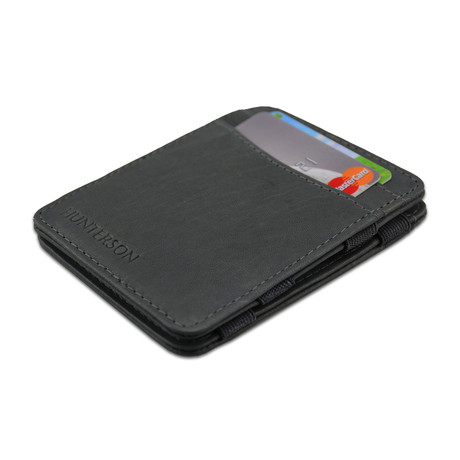 Hunterson Leather Magic Wallet // Gray