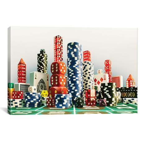 "Casino City // Carl Warner (26""W x 18""H x 0.75""D)"
