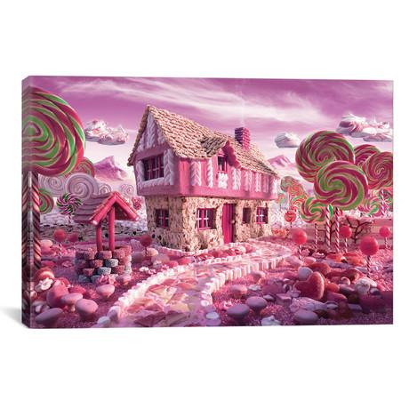 "Candy Cottage // Carl Warner (26""W x 18""H x 0.75""D)"