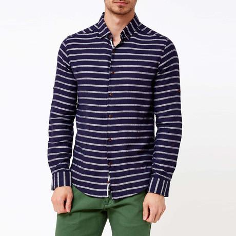 Hendricks Button-Up Shirt // Navy Blue