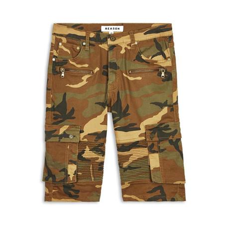 Dover Camo Cargo Shorts // Green