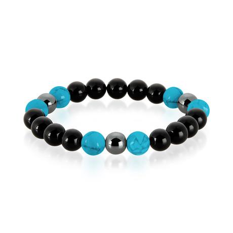 Natural Stone // Turquoise, Onyx + Hematite