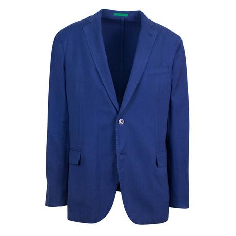 Foggia Cotton Blend Sport Coat // Blue