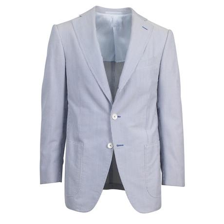 Trento Striped Silk Sport Coat // Gray
