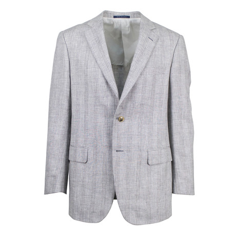 Pal Zileri // Grosseto Plaid Wool Blend Sport Coat // Gray (US: 48R)