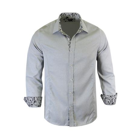 Towner Modern Fit Long-Sleeve Dress Shirt // Grey