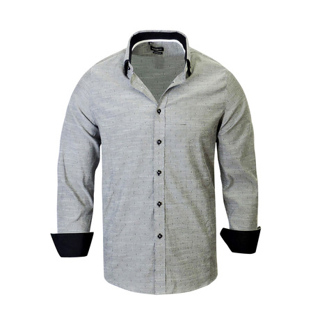 Sebastian Modern Fit Long-Sleeve Dress Shirt // Black