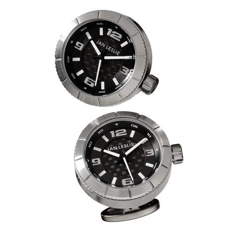Stainless Steel Sports Watch Cufflinks // Black