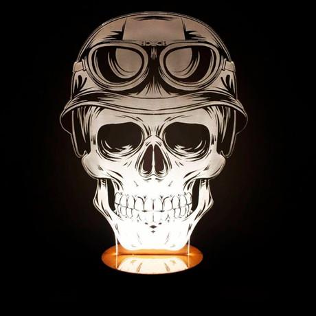3D Lamp // Skull