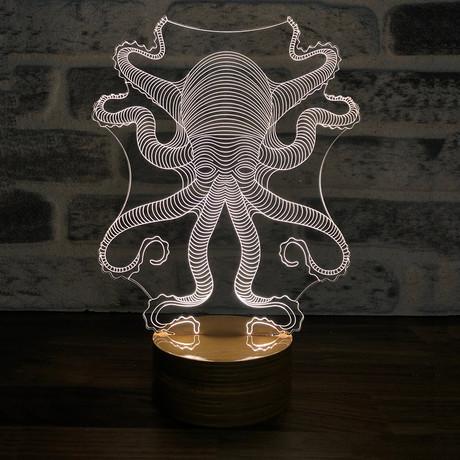 3D Lamp // Octopus