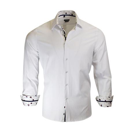 James Modern Fit Long-Sleeve Dress Shirt // White