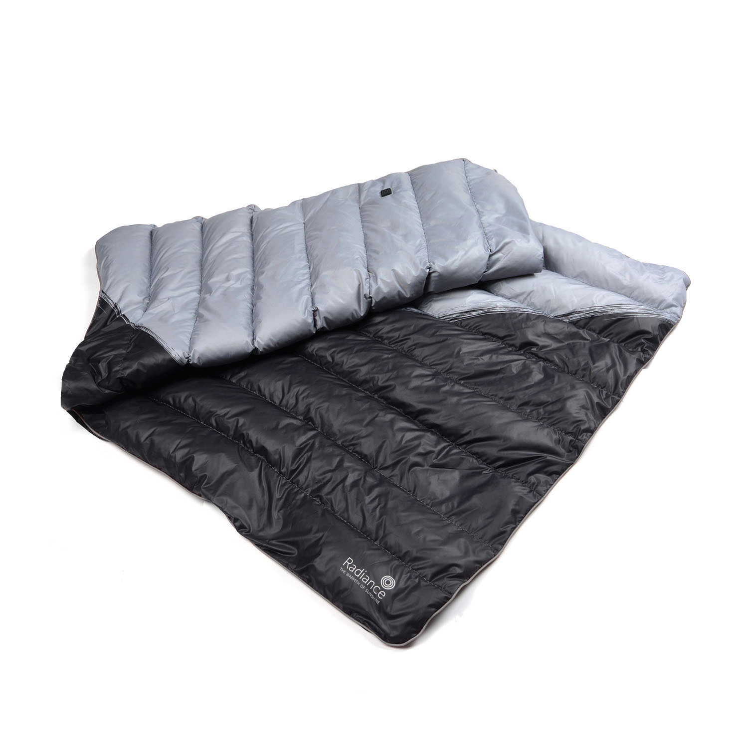Goose Down Outdoor Heated Blanket Black Large