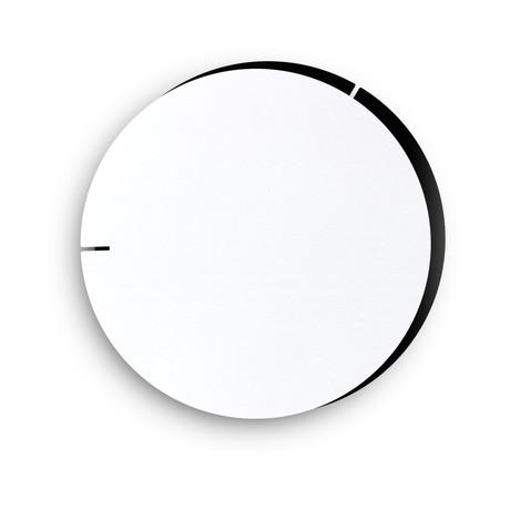 Melancholia Clock // White Minute Hand + Black Hour Hand